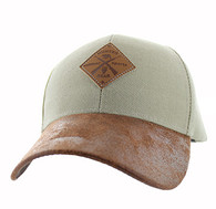 VM823 Hunting Bear Velcro Cap (Khaki & Brown)