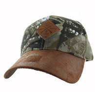 VM823 Hunting Bear Velcro Cap (Hunting Camo & Brown)