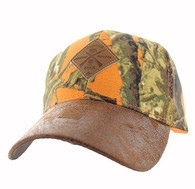 VM823 Hunting Bear Velcro Cap (Orange Camo & Brown)