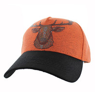 VM834 Deer Velcro Cap (Orange & Black)