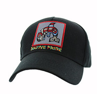 VM604 Native Fish Cotton Velcro Cap (Solid Black)
