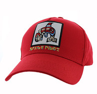 VM604 Native Fish Cotton Velcro Cap (Solid Red)