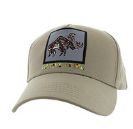 VM604 Native Moose Cotton Velcro Cap (Solid Khaki)