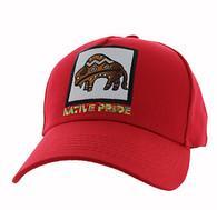 VM604 Native Buffalo Cotton Velcro Cap (Solid Red)