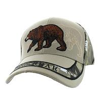 VM150 Hunting Bear Velcro Cap (Khaki & Hunting Camo)