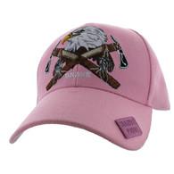 VM692 Native Pride Eagle Velcro Cap (Solid Light Pink)