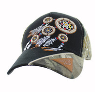 VM791 Native Pride Dream Catcher Velcro Cap (Black & Hunting Camo)