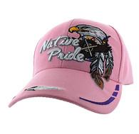 VM291 Native Pride Eagle Velcro Cap (Solid Light Pink)