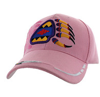 VM264 Native Pride Bear Claw Velcro Cap (Solid Light Pink)