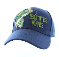 "VM711 ""Bite Me"" Velcro Cap (Solid Navy)"