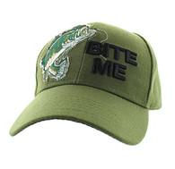 "VM711 ""Bite Me"" Velcro Cap (Solid Olive)"