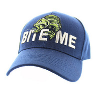 "VM712 ""Bite Me"" Fish Velcro Cap (Solid Navy)"