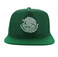 SM642 Mexico Mesh Snapback Cap (Solid Kelly Green)