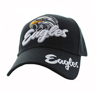 VM359 Eagle Velcro Cap (Solid Black)