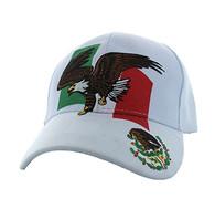 VM054 Mexico Eagle Velcro Cap (Solid White)