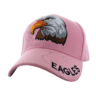 VM129 American USA Eagle Velcro Cap (Solid Light Pink)