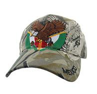 VM284 Mexico Baseball Velcro Cap (Solid Hunting Camo)