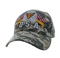 VM449 American USA Eagle Velcro Cap (Solid Digital Camo)