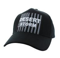 VM778 American USA Desert Storm Velcro Cap (Solid Black)