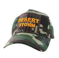 VM778 American USA Desert Storm Velcro Cap (Solid Military Camo)