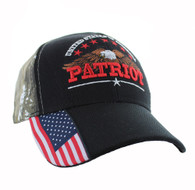 VM780 American USA Eagle Velcro Cap (Solid Black )