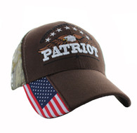 VM780 American USA Eagle Velcro Cap (Solid Brown)