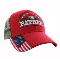 VM780 American USA Eagle Velcro Cap (Solid Red)