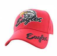 VM359 Eagle Velcro Cap (Solid Red)