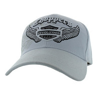 VM082 Choppers Ride Revolution Free Velcro Cap (Solid White)