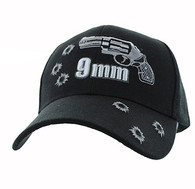 VM269 Gun 9 mm Velcro Cap (Solid Black)