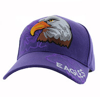 VM129 American USA Eagle Velcro Cap (Solid Purple)