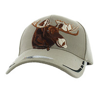 VM589 Native Pride Moose Velcro Cap (Solid Khaki)