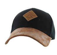 VM823 Hunting Moose Velcro Cap (Black & Brown)