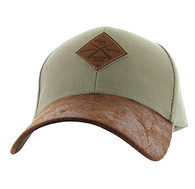 VM823 Hunting Moose Velcro Cap (Khaki & Brown)