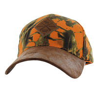 VM823 Hunting Moose Velcro Cap (Orange Camo & Brown)