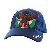 VM284 Mexico Baseball Velcro Cap (Solid Navy)
