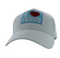 VM641 I Love Jesus Velcro Cap (Solid White)