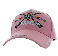 VM485 Native Pride Arrow Velcro Cap (Solid Light Pink)