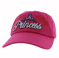 BM339 Princess Cotton Buckle Cap (Solid Hot Pink)
