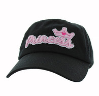 BM619 Princess Cotton Buckle Cap (Solid Black)