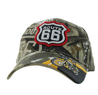 VM070 Route 66 Motor Velcro Cap (Solid Hunting Camo)
