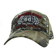 VM169 Route 66 Flag Velcro Cap (Solid Hunting Camo)