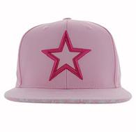 SM267 Star Bandana Cotton Snapback Cap (Pink & Pink)