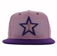 SM347 Big Star Snapback (Pink & Purple)
