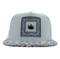 SM404 Marijuana Snapback (Solid White)