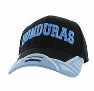 VM421 Honduras Country Velcro Cap (Black & Sky Blue)
