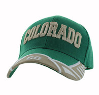 VM421 Colorado State Velcro Cap (Kelly Green & Khaki)