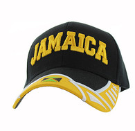 VM421 Jamaica Country Velcro Cap (Black & Yellow)