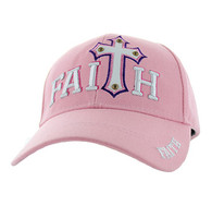 VM511 Faith Velcro Cap (Solid Light Pink)