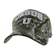 VM572 Jesus Died to Save Velcro Cap (Solid Hunting Camo)